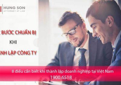 8 điều cần biết khi thành lập doanh nghiệp tại Việt Nam