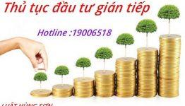 Hướng dẫn thủ tục đầu tư gián tiếp tại Việt Nam
