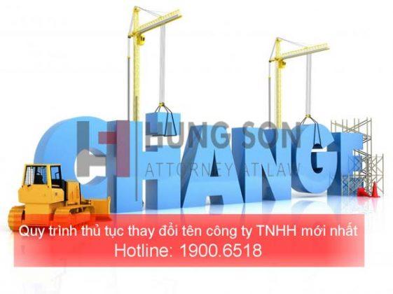 Quy trình thủ tục thay đổi tên công ty TNHH mới nhất