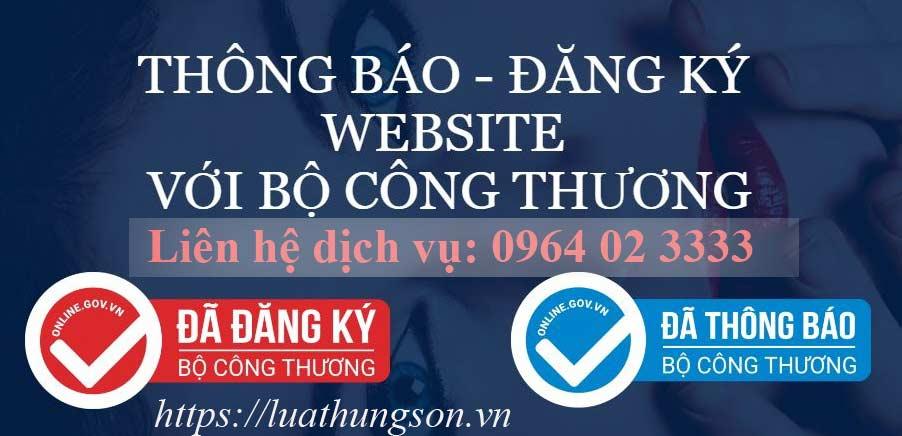 Thông báo, đăng ký website thương mại điện tử
