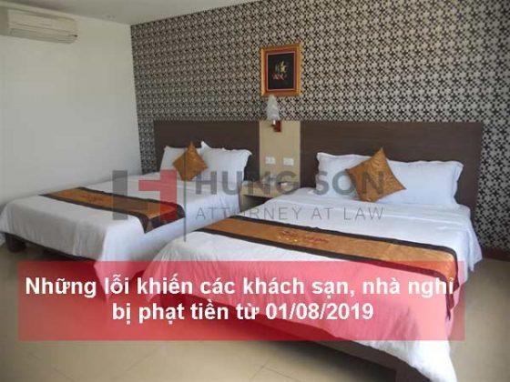 Những lỗi khiến các khách sạn, nhà nghỉ bị phạt tiền