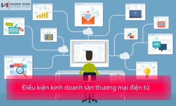 điều kiện kinh doanh sàn thương mại điện tử