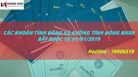 Các Khoản Tính Đóng Và Không Tính Đóng BHXH Bắt Buộc Từ 01/01/2019