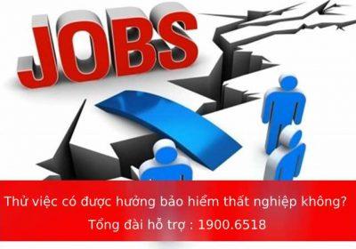 Thử việc có được hưởng trợ cấp bảo hiểm thất nghiệp không?
