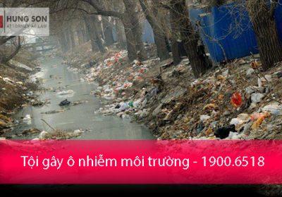 Tội gây ô nhiễm môi trường