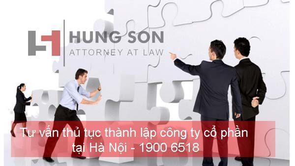 Tư vấn thủ tục thành lập công ty cổ phần tại Hà Nội