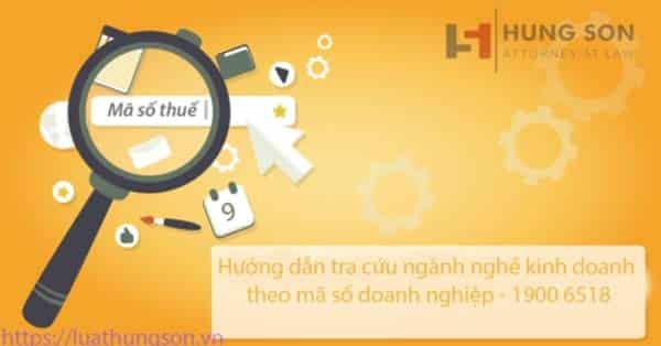 Hướng dẫn tra cứu ngành nghề kinh doanh theo mã số doanh nghiệp