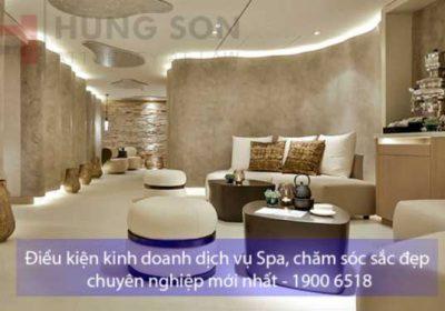 Điều kiện kinh doanh dịch vụ Spa, chăm sóc sắc đẹp, xoa bóp