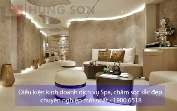 Điều kiện kinh doanh dịch vụ spa