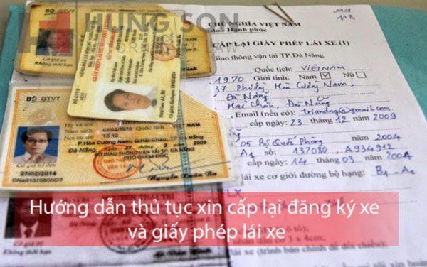 Hướng dẫn thủ tục xin cấp lại đăng ký xe và giấy phép lái xe