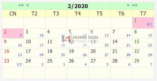 Đã có lịch nghỉ tết âm lịch 2020 chính thức