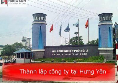 Thành lập công ty tại Hưng Yên từ A-Z