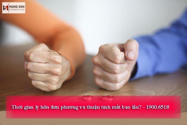 Ly hôn đơn phương và thuận tình mất bao nhiêu lâu?