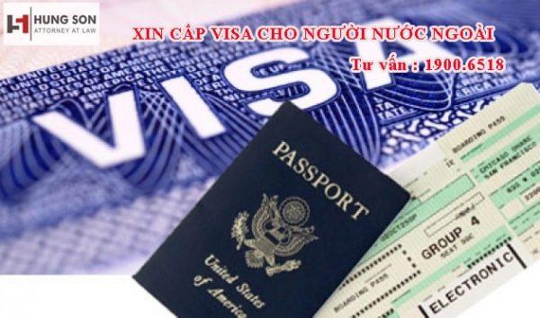 xin cấp visa cho người nước ngoài