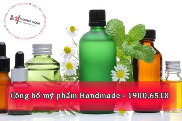 Tư vấn quy trình, thủ tục công bố mỹ phẩm handmade tại Việt Nam