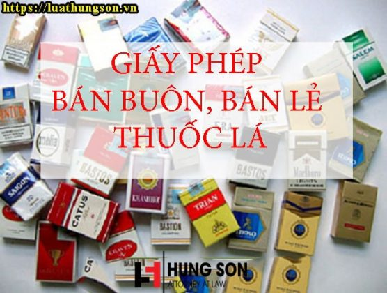 giấy phép bán lẻ thuốc lá