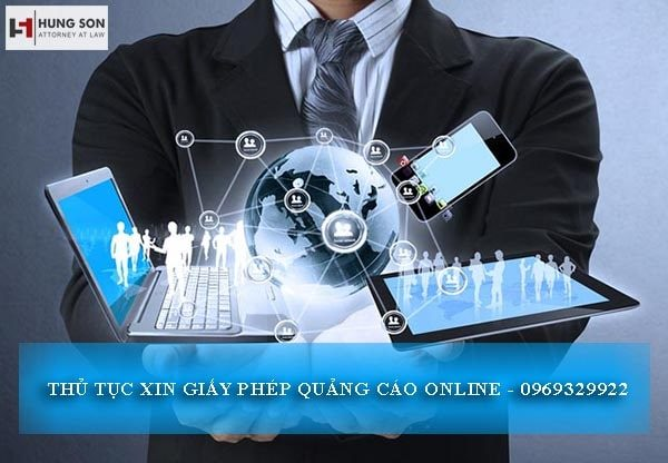 xin giấy phép quảng cáo online