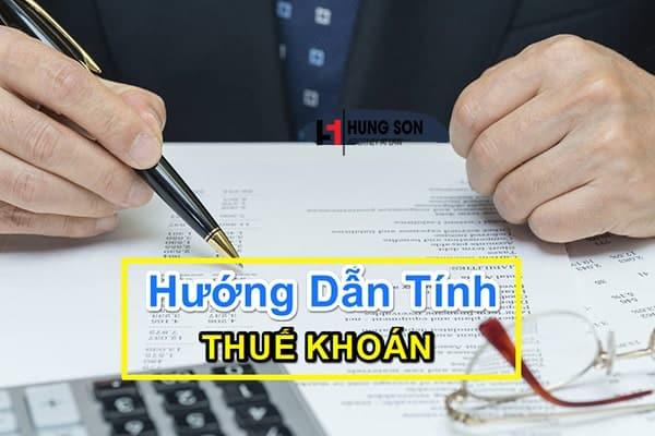 Tư vấn chi tiết nguyên tắc và cách tính thuế khoán cho cá nhân, hộ kinh doanh