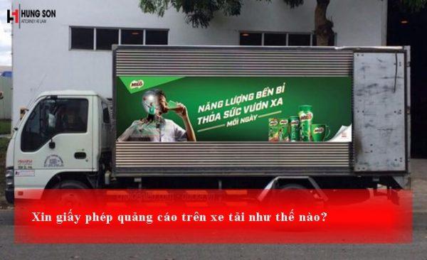 xin giấy phép quảng cáo trên xe tải