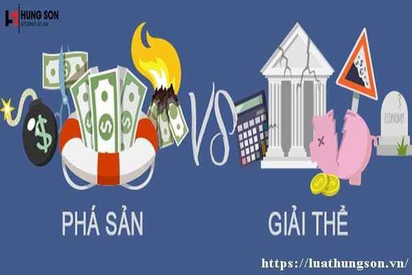 So sánh điểm giống nhau, khác nhau giữa giải thể và phá sản doanh nghiệp