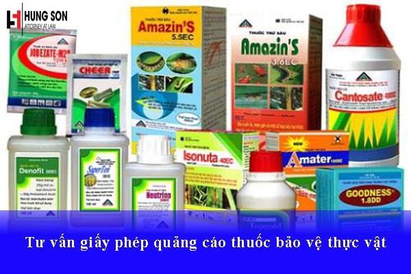 Tư vấn giấy phép quảng cáo thuốc bảo vệ thực vật