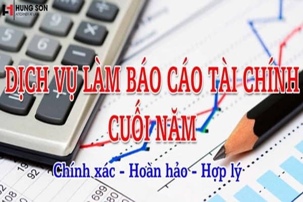 Dịch vụ làm báo cáo tài chính chuyên nghiệp, uy tín tại Hà Nội