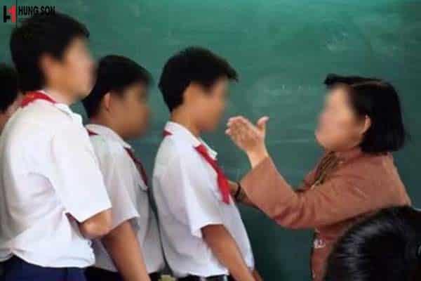 hành vi giáo viên đánh học sinh