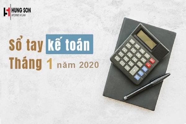 Những việc kế toán cần làm trong tháng 01/2020