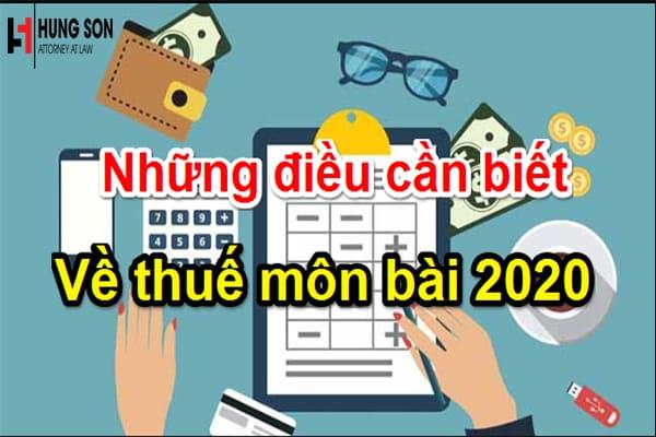 Những điều cần chú ý về lệ phí môn bài dành cho doanh nghiệp 2020
