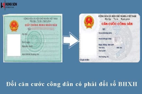 đổi thẻ căn cước công dân có phải đổi sổ bhxh