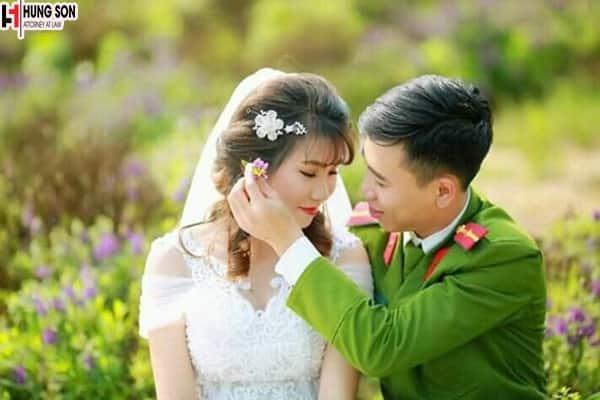 đăng ký kết hôn với sỹ quan quân đội