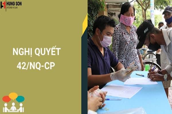 Điều kiện nhận tiền hỗ trợ theo Nghị quyết 42/NQ-CP