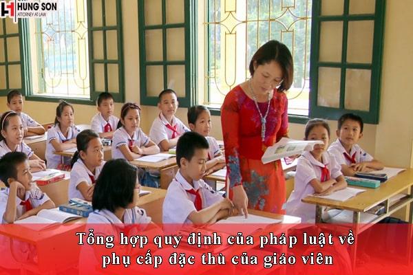 phụ cấp đặc thù của giáo viên