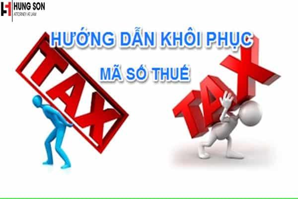 khôi phục mã số thuế