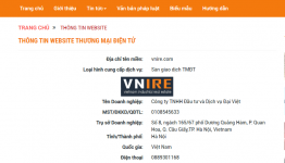 Đăng ký thành công sàn thương mại điện tử giao dịch bất động sản VNIRE.COM