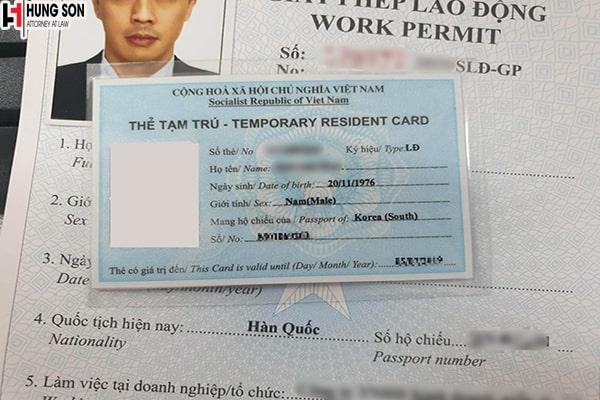 cấp thẻ tạm trú