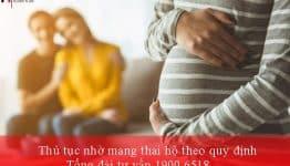 Thủ tục nhờ mang thai hộ theo quy định mới
