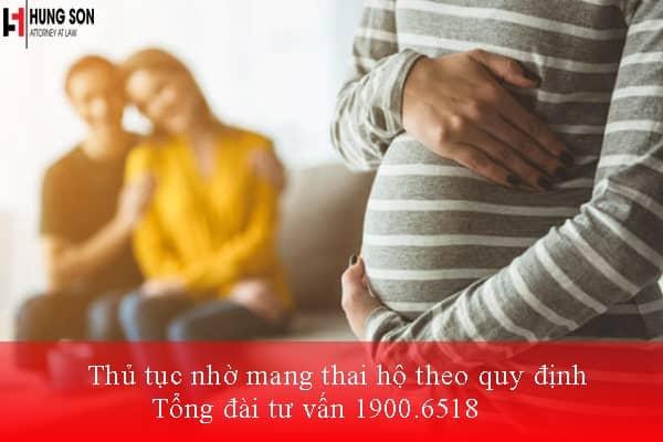 thủ tục nhờ mang thai hộ