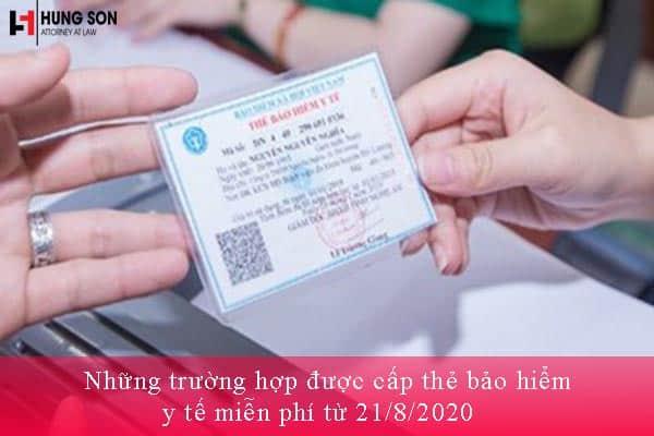 cấp thẻ bảo hiểm y tế miễn phí