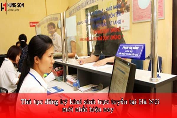 đăng ký khai sinh trực tuyến tại hà nội