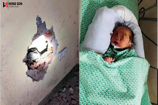 Mức xử phạt đối với người mẹ vứt con xuống khe tường ở hà nội