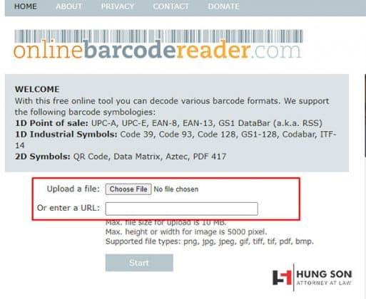 check mã code sản phẩm online bằng web onlinebarcodereader