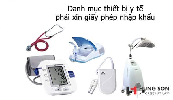 danh mục thiết bị y tế phải xin giấy phép