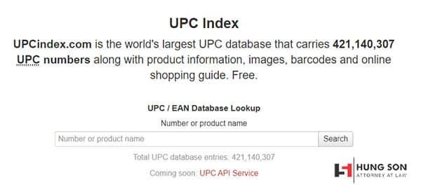 kiểm tra mã vạch bằng web upcindex