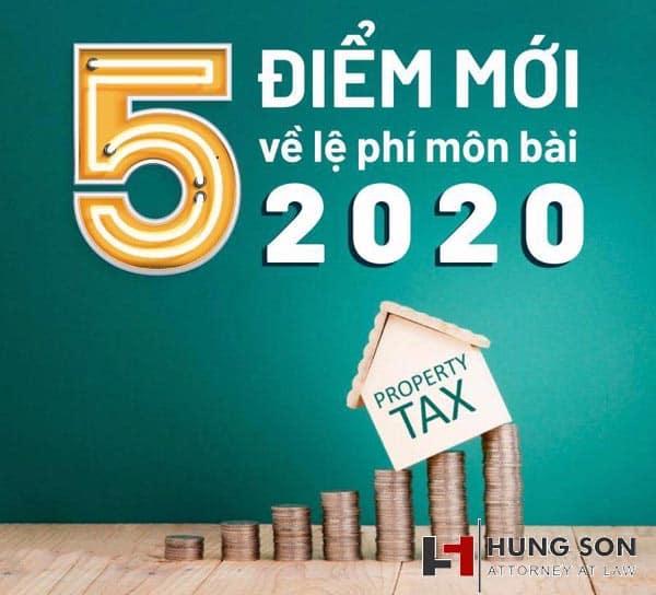 5 điểm mới trong nghị định 22/2020 về lệ phí môn bài