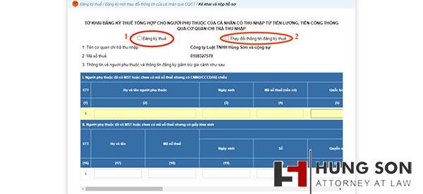 thủ tục đăng ký giảm trừ gia cảnh - kê khai thông tin