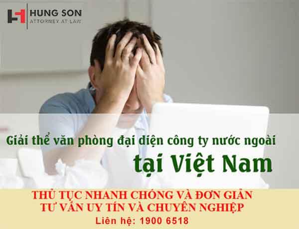 dịch vụ đóng cửa văn phòng đại diện nước ngoài của Luật Hùng Sơn