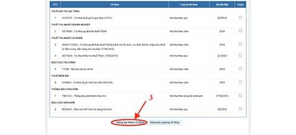 cách đăng ký giảm trừ gia cảnh qua mạng - đăng ký tờ khai