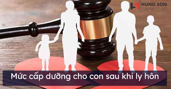 mức tiền trợ cấp nuôi con sau ly hôn