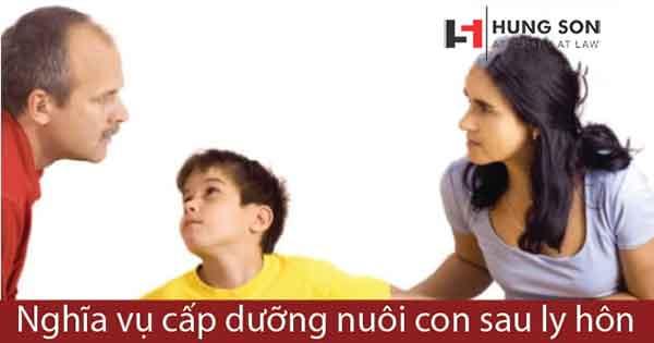 bố mẹ phải có nghĩa vụ cấp dưỡng nuôi con sau ly hôn